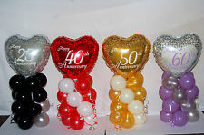 25TH 40TH 50TH 60TH ANNIVERSARY FOIL BALLOON TABLE CENTERPIECE DISPLAY