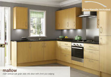 Mallow Vertical Oak Grain Kitchen Base and Wall Units Cabinets