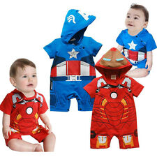 Baby Party Outfit - Captain America / Iron Man Infant Party Suit 3 6 12 18 Month