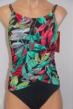 NWT Magic Suit by Miraclesuit Swimsuit 1 one piece Multi Underwire High Neck