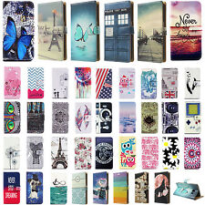 Pattern Wallet Card Slot Leather Stand Flip Case Cover Skin For Samsung Galaxy