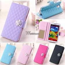 PU Leather Wallet Card Flip Cover Stand Case For Samsung Galaxy S3/5 Note 3 WT88