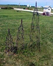 """39"""" Wrought Iron Beehive Topiary w/ Cast Iron Finial"""
