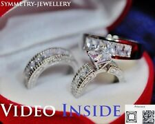 Luxury 5.68 CT Princess Cut Wedding Set Engagement Ring 22KT S.Made in Italy d g