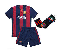 Barcelona #10 Messi Home Kids Soccer Jersey & Shorts & Long Socks Youth Sizes