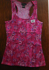 Wet Seal Racerback Juniors Shirt Summer Tank Top Pink Floral New
