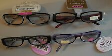 Foster Grant Ladies Handcrafted Fun Frames Reading Glasses +2.50 Lot of 4 Pairs