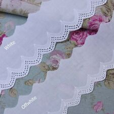 "Vintage Style  Cotton Eyelet Lace Trim 2.4""(6cm) Wide 5Yd White Offwhite"