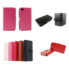 Crocodile Alligator Leather Skin Case Cover Protector For Apple iPhone 4S 4 4G