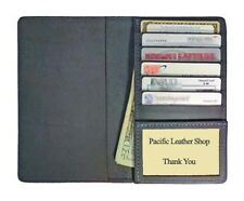 100% Leather Top Stub Checkbook Cover w/ Credit Card pocket for Top Stub Checks