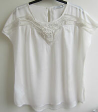 MANGO EMBROIDERED BLOUSE TOP  BLACK OR OFF-WHITE BNWOT SIZES XS,S,M,L,XL