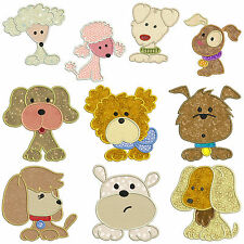 ** DOGS ** Machine Applique Embroidery Patterns ** 10 Designs