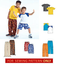 SEWING PATTERN! MAKE BOYS T-SHIRTS~PANTS~SHORTS!  3~8/10~14! SUMMER CLOTHES~EASY