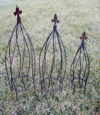 """24"""" Large Wrought Iron Twist Topiary or Obelisk Trellis - Great in a Flower Pot"""