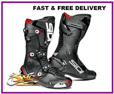 Sidi MAG-1 Mag 1 Motorcycle Race Boots - Black CE Approved
