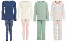 Girls 100% Cotton Pyjamas Ex Marks and Spencer Ankle Cuffs Blue Green Cream Pink