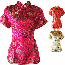 Asia Miss China-Geisha-Qipao Bluse/Blazer/Top Shirt Tunika Gr.34,36,38,40,42,44