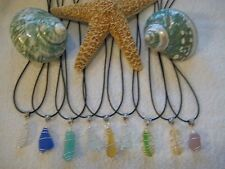 SEA BEACH GLASS ~ 1 DESIGNER WIRE WRAPPED PENDANT