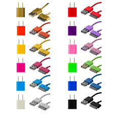 USB Sync Data Cable Cord+AC Wall Power Charger for iPhone 4G 4 4S 3GS iPod Touch