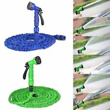 25 50 75 100 FT Expanding Flexible Garden Water Hose Expandable w/ Spray Nozzle