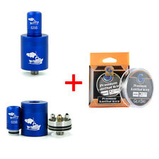 Blue Tugboat RDA with Drip-Tip + 100FT Kanthal AWG A1 Resistance Wire