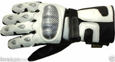 Motorbike Motorcycle Leather Gloves with kevlar and Armours
