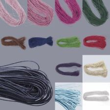 70M 1mm Waxed Cotton Thong Cord Macrame Braiding Jewellery Making String Thread