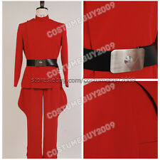 Star Wars Ysanne Isard Cosplay Costume Imperial Officer Red Uniform Suit Outfit