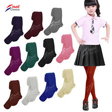 Kids  Baby Girls Toddler Plain School Cotton Rich in a lot Colors Tights Socks