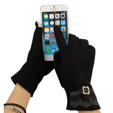 Cool Women Lady Touch Screen Lace Cotton Winter Warm Outdoor Gloves New Style