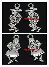 40/240pcs Tibetan Silver Boys girls skeleton blame Alloy Jewelry Charms Pendant