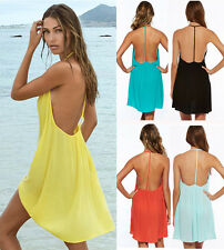 Sexy Womens Summer Casual Sleeveless Party Evening Cocktail Short Mini Dress