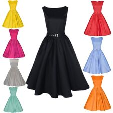 8 Colors Vintage Rockabilly Retro Swing 50s 60s pinup Housewife Prom party Dress