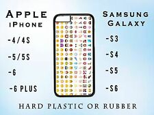 EMOJI SMILEY FACES FUNKY FUNNY Apple iPhone Samsung Galaxy Case Plastic Rubber