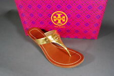 Tory Burch Cameron 50MM Wedge Sandals Gold Petite Dorothy NIB