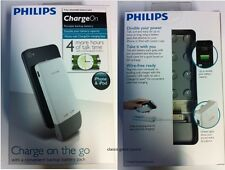 NEW Philips1200 mah Rechargeable Battery pack Attaches to case for iPhone 3 & 4