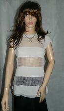 Karen Millen Stone Woven Texture Top size  Smart Casual size 12 NEW RRP £99