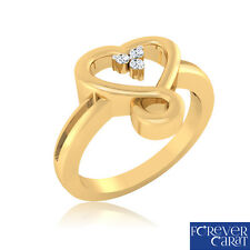 0.04Ct Certified Natural & Real Diamond Ring 14kt Hallmarked Gold Ring Jewellery