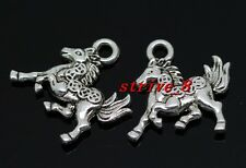 Wholesale 50/300pcs Tibetan Silver Two-Sided Money horse Charms Pendant 16x14mm
