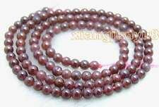 """SALE Small 4-5mm Round high quality Natural Brown garnet Beads strand 15""""-los202"""