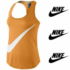 Nike Womens Orange 'NIKE' Swoosh Athletic Graphic Tank XS-M NWT 626615 Free Ship