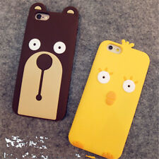 For Apple iphone6 plus 5S Cute newest 3D Chick bear soft cartoon case cover skin