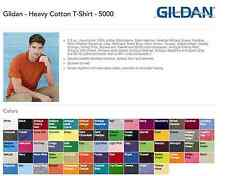 100 Gildan T-SHIRTS COLORS or WHITE BLANK BULK LOT S-XL Wholesale 6