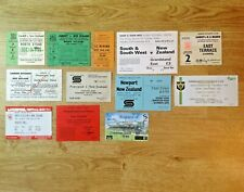 New Zealand Tour Used Rugby Tickets 1963 - 1997