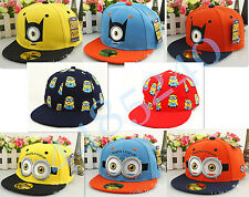 New Despicable Me Minion Kids Boys Girls Adjustable Snapback Baseball Cap