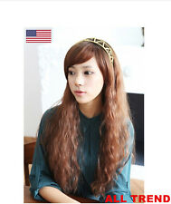 New Fashion Women Lady Cosplay Wavy Curly Long Hair Full Party Costume Wigs