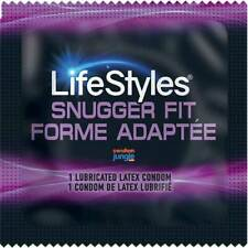 Lifestyles Snugger Fit Lubricated Latex Small Condoms (Bulk Pack)