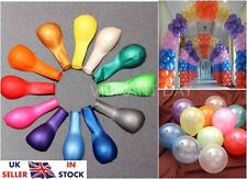 "100 x 10"" LATEX PEARLISED BALLOONS PARTY BIRTHDAY WEDDING ANNIVERSARY"