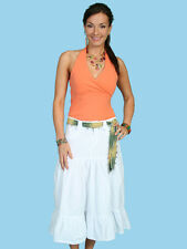 SCULLY Cantina Collection White 100% Peruvian Cotton Western Skirt PSL-078 NWT