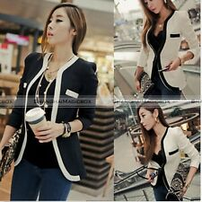 Korean New Womens One Button Slim Casual OL Top Coat Jacket Blazer Suit Outwear